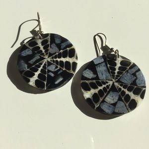 •new• Mother of Pearl Disc Earrings